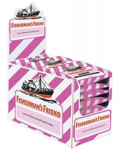 Fisherman's Friend Raspberry sokeriton, laatikko ( 24kpl x 25g )