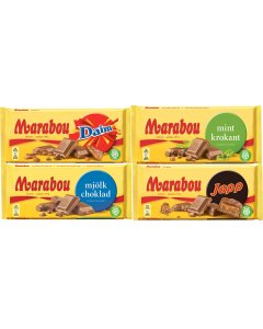 Marabou suklaalevylajiltelma 5-pack (985g)