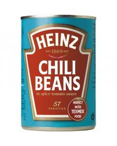 Heinz Chili Beans valkoisia papuja mausteisessa tomaattikastikkeessa 390g